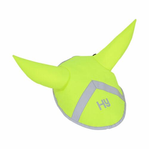 HY HI VIZ YELLOW REFLECTIVE REFLECTOR EAR BONNET FLY VEIL PONY COB FULL