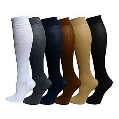 (4 Pairs) Compression Socks Stockings Graduated Support Men's Women's (S-XXL)