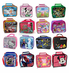 Kids-TV-Characters-Disney-School-Insulated-Lunch-Bag-Box-Kit-New-Gift