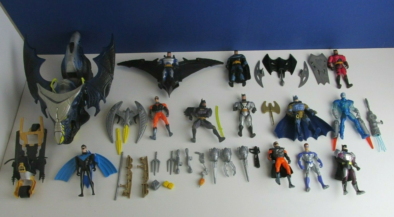 VINTAGE Batuomo azione cifra Set Robin MR gratuitoZE NIGHTWING KENNER Bundle