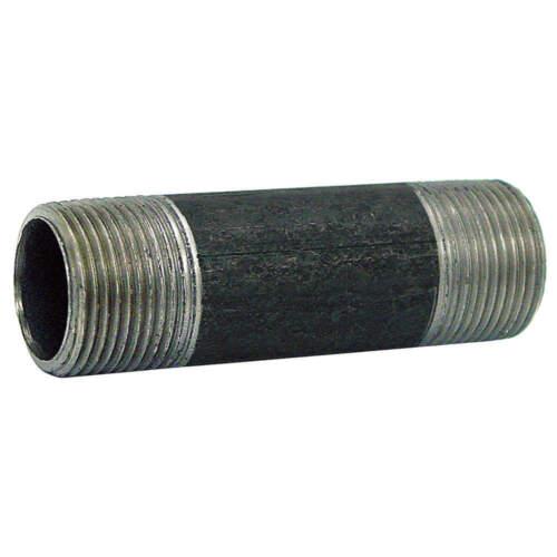 Black Pipe Nipple,Threaded,1x4 In 330024803