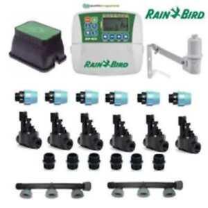 Dettagli Su Kit Irrigazione Rain Bird 6 Stazioni Zone Con Centralina Programmatore Completo