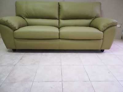 .divano 3 Posti In Vera. Pelle