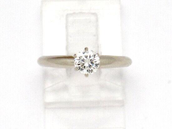 14k White gold Round Diamond Solitaire Engagement Ring .50ct