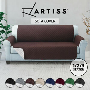 Artiss Sofa Cover Quilted Couch Covers Protector Slipcovers 1 2 3 Seater Pet Dog