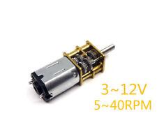 Dc 3v 6v 12v 5rpm 40rpm N20 Gear Motor High Torque Low Speed Dc Motor For Diy
