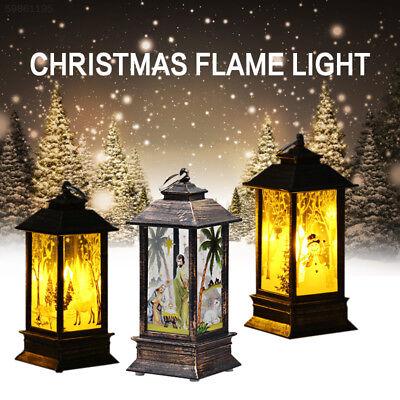 Christmas Vintage Santa Snowman Light Lamp Party Hanging