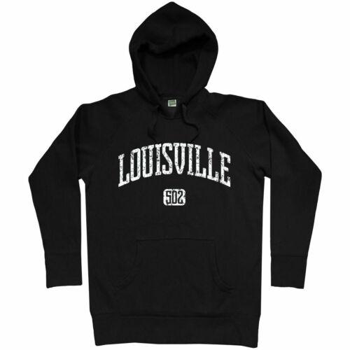 Louisville 502 Hoodie KY Kentucky SDF Cardinals Bourbon Sluggers Men S-3XL