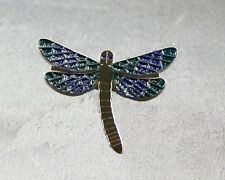 Metal Enamel Pin Badge Brooch Dragonfly Dragon Fly Flie Insect Blue