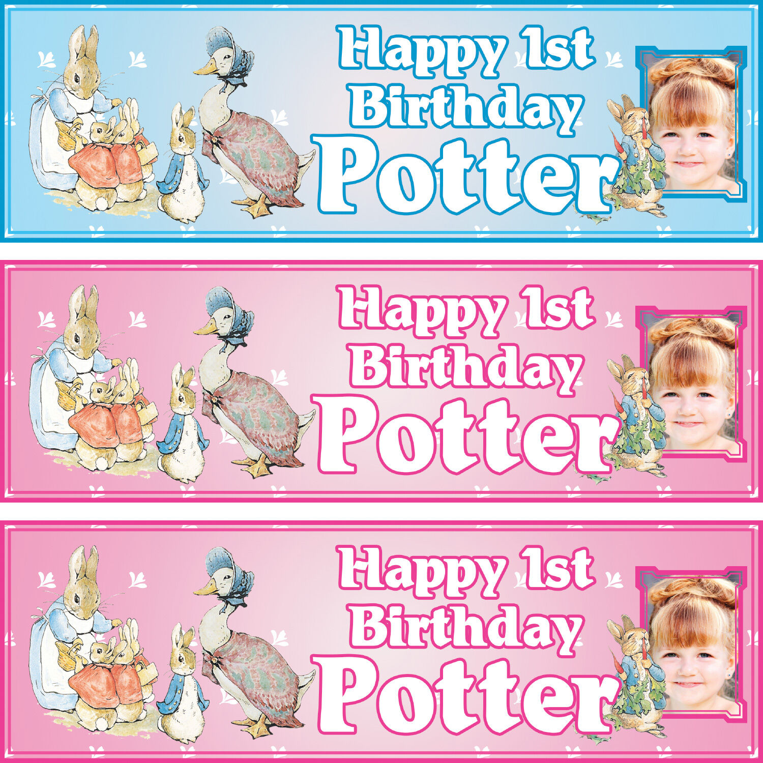 2 x personalised SHIMMER /& SHINE birthday banner girls kids party any name age