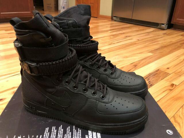 Nike SF Af1 Special Forces Triple Black 864024 003 Size 10