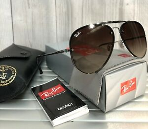 1f6b62f8e NEW RAY BAN Sunglasses BLAZE AVIATOR RB3584N 004/13 Gunmetal/ Brown ...