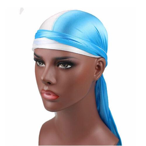 Multi-color Mens Womens Turban Hat Soft Silk//Silky Cap Pirate Doo Durag Headwear