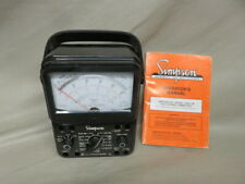 Vintage Simpson 260 Series 7m Milliammeter Volt Ohm Meter With Manual Nice