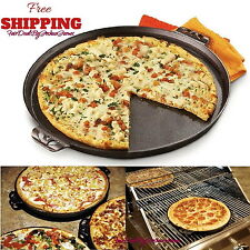 Camp Chef True Seasoned 14 Inch Cast Iron Pizza Pan Round Cookware Griddle New