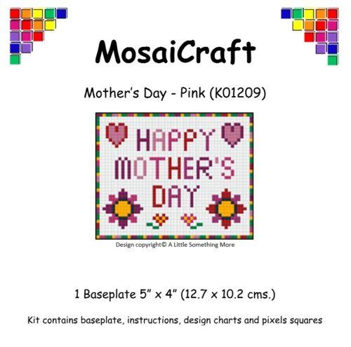 "Mosaicraft pixel Craft MOSAICO Art Kit /'Festa della mamma-ROSA /""pixelhobby"