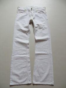 Diesel ZATHAN wash 00658 Bootcut Jeans Hose, W 31 /L 34, Weiß ! White Denim !