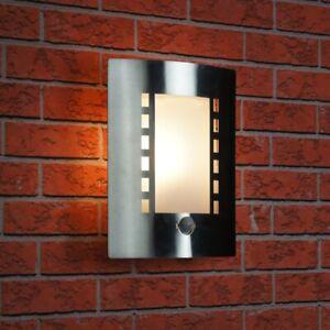 Ranex-Messina-al-aire-libre-luz-de-Pared-Acero-Inoxidable-IP44-con-sensor-de-movimiento-PIR