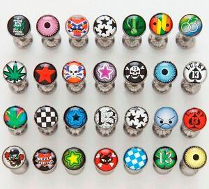 10 Logo Steel Ball Tongue Rings WHOLESALE Body Jewelry Barbells 14g 5/8 Bars