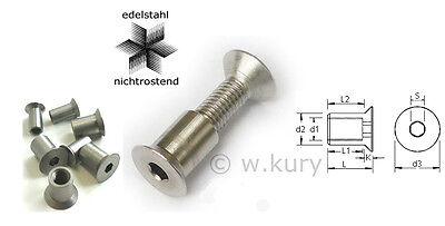 10 St/ück M3 x 12 mm Senkkopfschrauben Edelstahl DIN 7991 Senkkopf Innensechskant A2 V2A VA