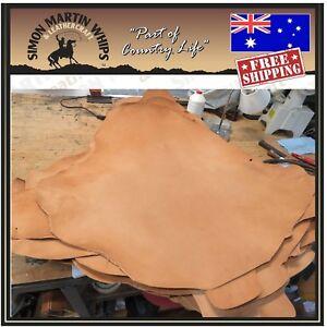 WHISKY-Color-VEG-TANNED-Kangaroo-leather-skin-hide-for-plaiting-whip-making-etc
