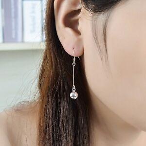 Genuine-925-Sterling-Silver-8mm-Bell-Lucky-Pendant-Dangle-Drop-Hook-Earrings-New
