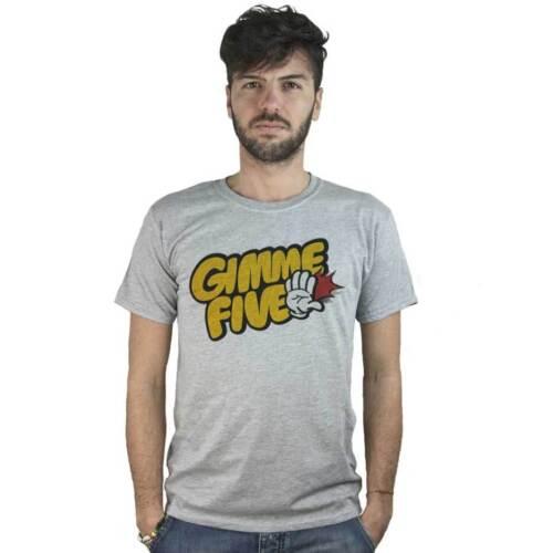 T-shirt Gimme Five dessins animés T-shirt avec écrit Amusante bandes dessinées