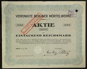 GERMANY-939-B-amp-G-Vereinigte-Berliner-Moertelwerke-Aktiengesellschaft-1000-RM1922