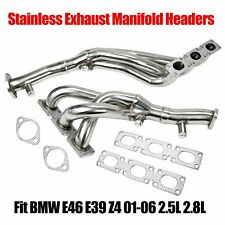Manzo Stainless Steel Headers Fit E46 99-00 323//328 E39 528//525//Z3 96-01 2.5//3.0