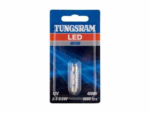 TUNGSRAM LED 4000K 12V 0.4-0.6W white C5W 239 38mm SV8.5-8 FestoonInterior 60150