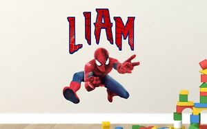 Image Is Loading Spiderman Wall Decal Custom Name 3D Kids Sticker
