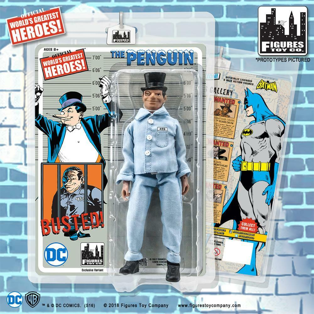 Dc comics batman retro - 8 - zoll - abbildung pinguin gefängnis uniform variante neue