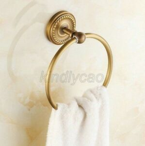 Antique-Brass-Wall-Mounted-Round-Bathroom-Towel-Ring-Towel-Rack-Holder-Kba273