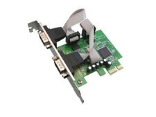 Carte PCIE SERIE RS232  PCI EXPRESS - 2 PORTS COM DB9 - CHIPSET MOSCHIP