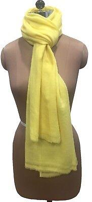 New 100/% Wool Cashmere Yellow// Lemon Women/'s//Ladies Winter Scarves//Stoles//Shawls