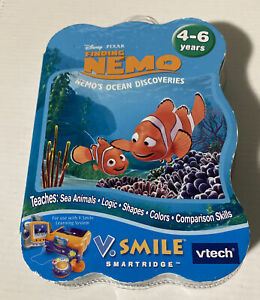 Vtech-Vsmile-Smartridge-Disney-039-s-Finding-Nemo-Cartridge-Game-Learning-System-NEW