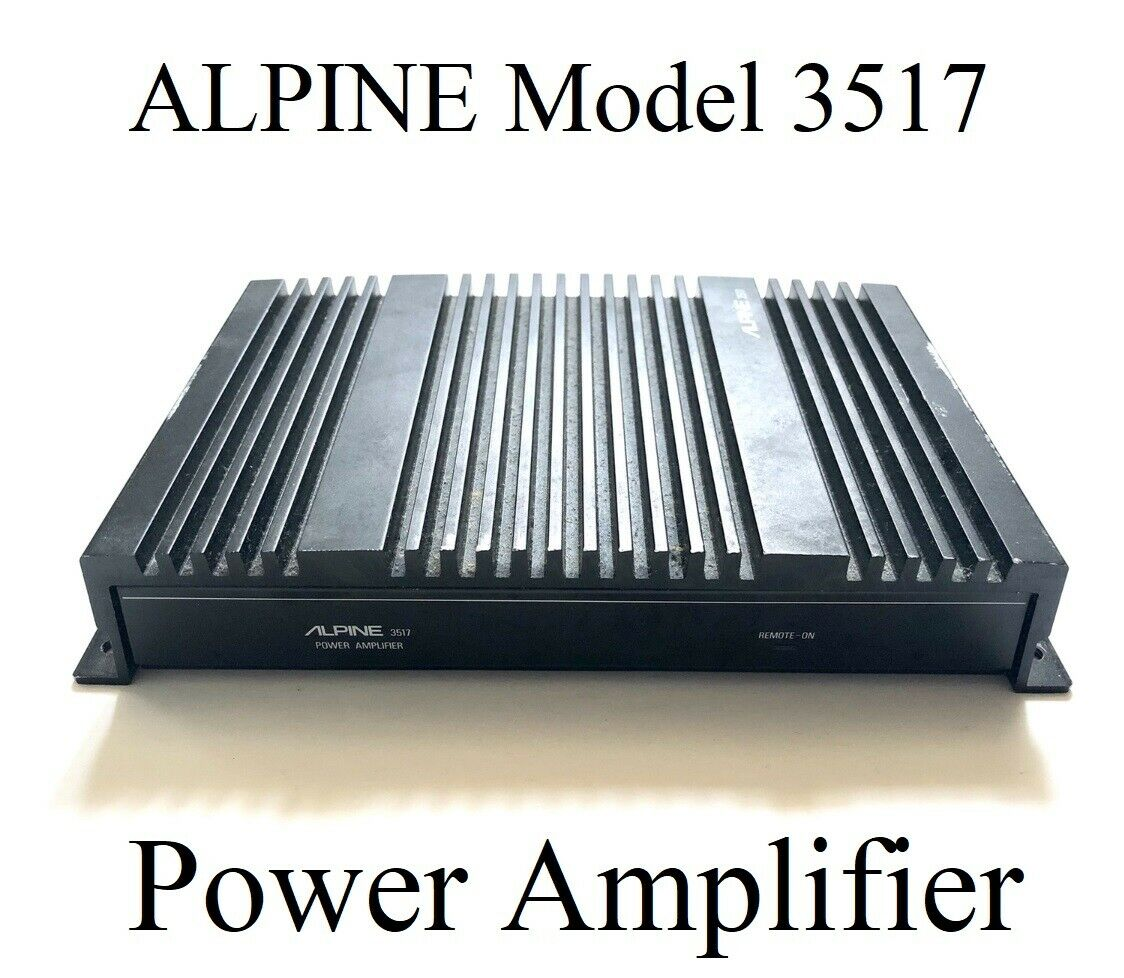 goedkoop te koop geautoriseerde site koop het beste Alpine 2 Channel Power Amplifier Model Number 3517