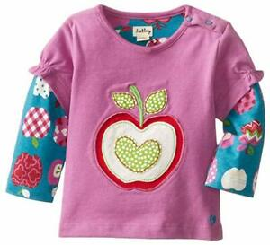 Hatley-Baby-Girls-Newborn-Girls-2-In-1-Tees-Patterned-Orchard-Apples-3-6m