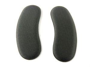 1 Par Negro Extra Adhesivo Tela Zapato tacón INSERTABLE Plantillas Almohadillas