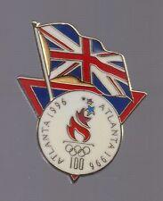 1996 Great Britain Flag Olympic Pin Atlanta USOC Union Jack British UK