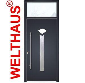 WeltHaus Türen Aluminium mit Kunststoff mit Oberlicht NY3344 Haustür ...