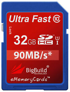 32GB-Memory-card-for-FujiFilm-FinePix-SL300-Camera-Class-10-90MB-s-SD-SDHC-New