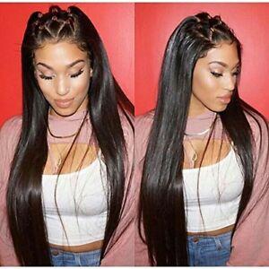 Glueless Full Lace Wig Black Women Malaysian Remy Silky Straight ... 8bac5d221e