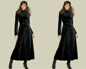 Womens-Full-Length-Long-Double-Breasted-Lapel-Wool-Blend-Trench-Coats-Outwears