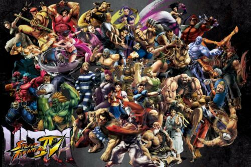 Ultra Street Fighter SF Characters Mix Game Canvas Print Art Home Decor Wall