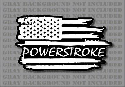 Ford F-250 F-350 Powerstroke Superduty Truck American flag diesel sticker decal