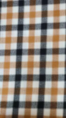 "Black Cream Pumpkin Orange Plaid 16/"" curtain valance"