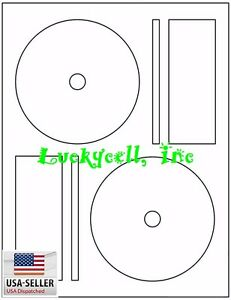 100-Full-Face-Memorex-Compatible-CD-DVD-Laser-Ink-Jet-Labels-50-sheet-Label