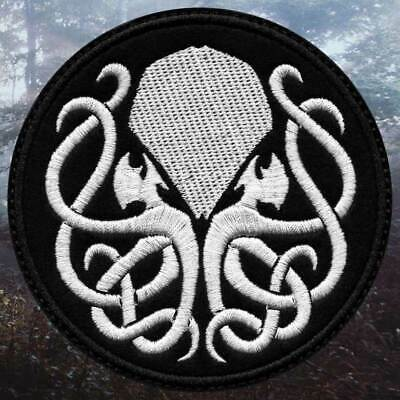 Cthulhu vintage gold Embroidered PATCH//BADGE