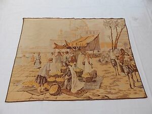 Vintage French Beautiful Arbian Scene Tapestry 123x163cm T826